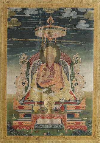 A Tibetan or Himalayan thangka