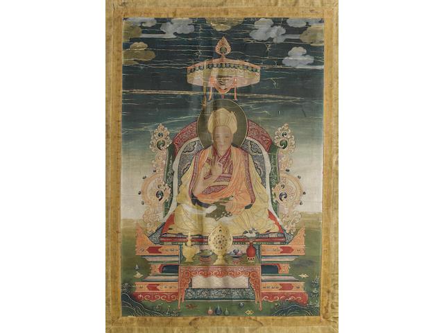 A Tibetan or Himalayan thangka