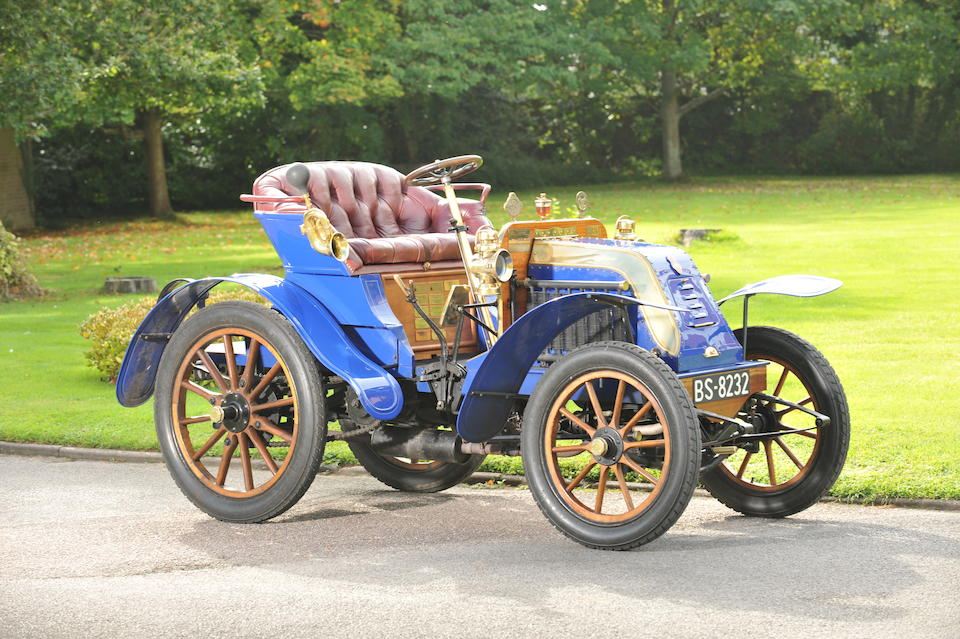 1902 Deckert 8hp Two-seater  Chassis no. T145 Engine no. 276B