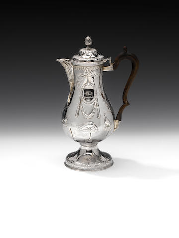 A George III Irish silver hot water jug, by Joseph Jackson, no date letter, Dublin, circa 1775,