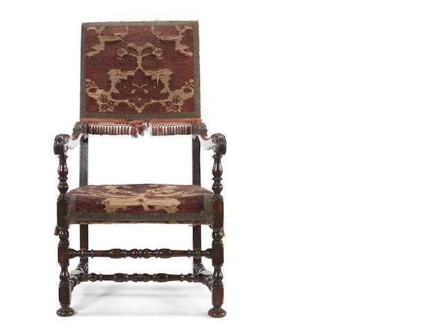 Louis XIV walnut armchair