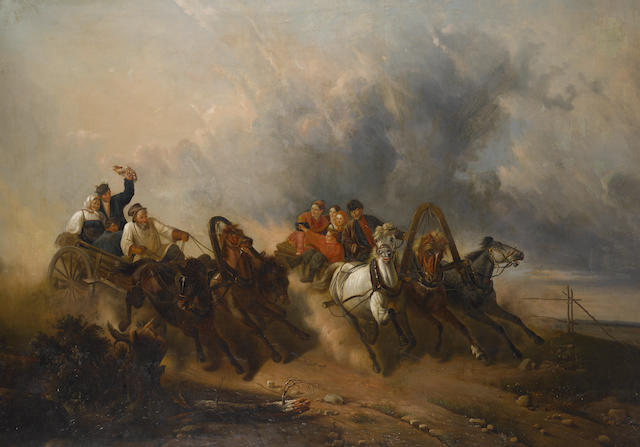 After Nikolai Egorovich Sverchkov The troika race