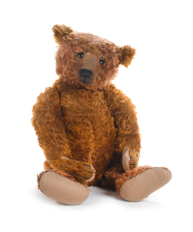 Large and rare cinnamon Steiff Teddy Bear, circa 1907