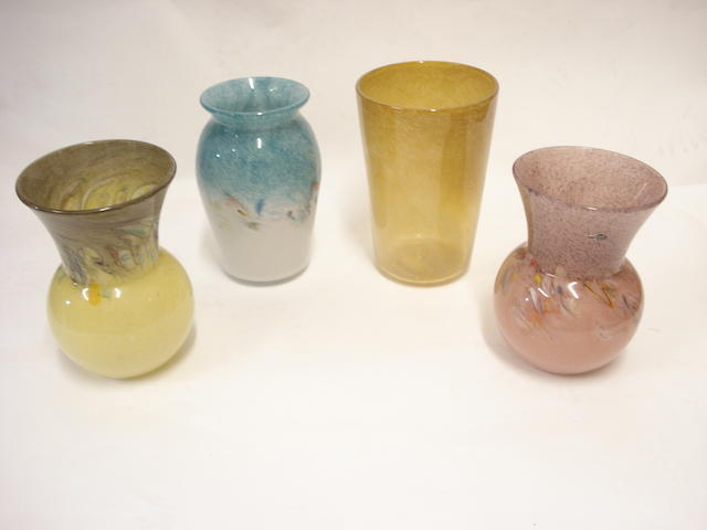 Four Scottish vases