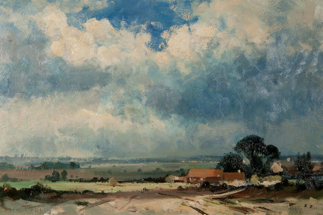 Roy Petley (British, born 1951) 'Before the storm, Norfolk'