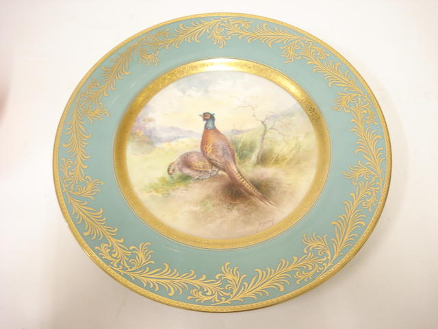 A Minton cabinet plate 20th century