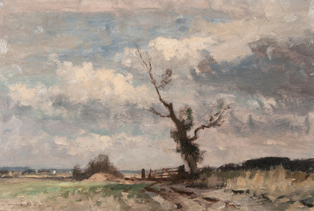 Edward Seago R.W.S. (British, 1910-1974) The marsh gate