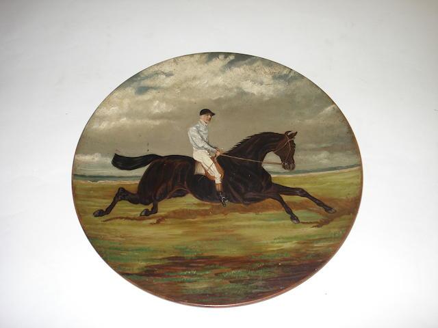 A terracotta wall plate  19th century