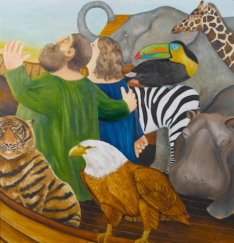 Beryl Cook (British, 1926-2008) Noah's Ark