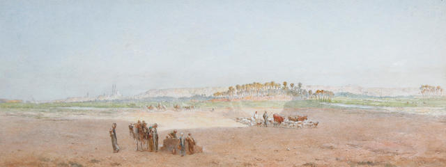 Edward Angelo Goodall, RWS (British 1819-1908) A desert well