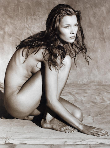 Albert Watson (Scottish, born 1942) Kate Moss, Marrakech, Morocco, 1993 Paper sight area 145 x 115cm (57 1/16 x 45 1/4in), image 121.5 x 90.5cm (47 13/16 x 35 5/8in).