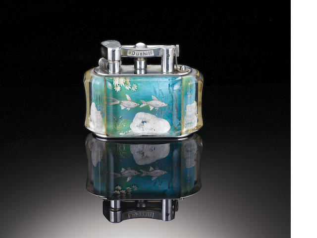 DUNHILL: An 'Aquarium'  lighter,