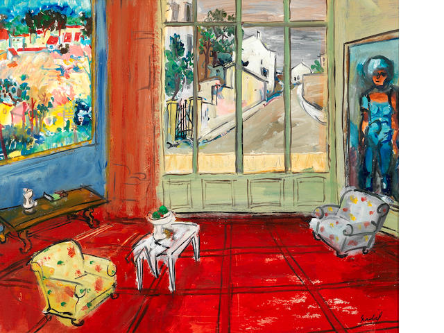 Carlos Nadal (1917-1998) Le Salon rouge