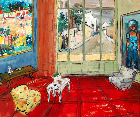 Carlos Nadal (1917-1998) Le Salon rouge