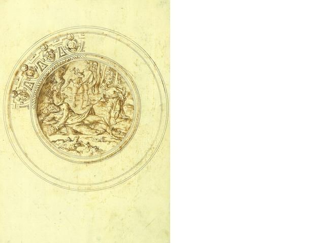 Jacopo Strada (Mantua 1510-1588 Vienna), and Studio Design for a basin with the drunkenness of Noah