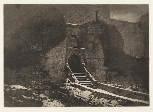 James Craig Annan, Harlech Castle, photogravure c. 1910
