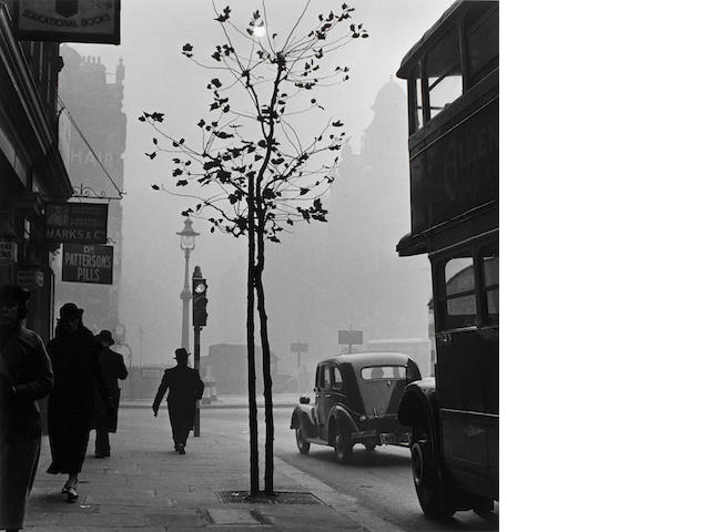 Wolfgang Suschitzky (British, born 1912) Charing Cross Road from No 84 (Marks & Co), London, 1937 Paper 50.6 x 40.7cm (19 15/16 x 16in), image 39.3 x 36.8cm (15 1/2 x 14 1/2in).