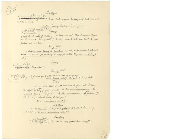 BENNETT (ARNOLD) Collection of typescripts and manuscript drafts for plays, [1922-1928]