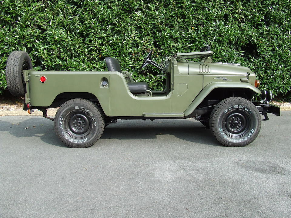 Formerly the property of The Rover Car Co Ltd,1963 Toyota FJ40 Land Cruiser  Chassis no. 2FJ40 15916 Engine no. F176665
