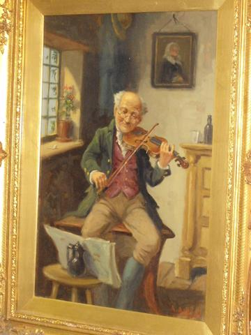 Alexander Austen (British), (active 1891-1909) 'The Violinist'