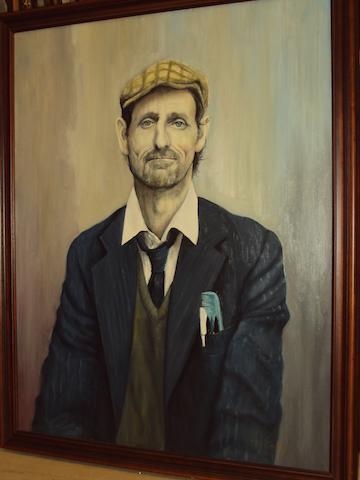 Tony Cowlishaw (British, born 1944) 'Albert', a Mansfield miner
