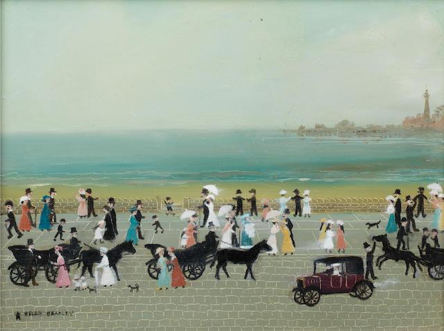 Helen Bradley (British, 1900-1979) Blackpool Promenade 23 x 30.5 cm. (9 x 12 in.)