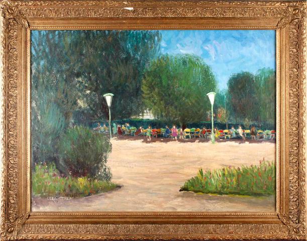 Gera Gyula (Hungarian, 1902-1969) The Park Cafe