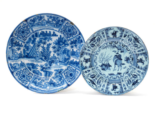 Two Dutch Delft chargers