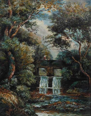 Raymond Dearn (British, 1858-1925) 'Ballamanaugh Bridge, Sulby', Isle of Man