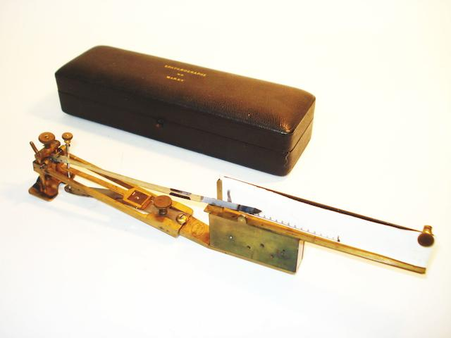 A Sphygmographe apparatus by Breguet, retailed by J & W Wood, circa 1900,
