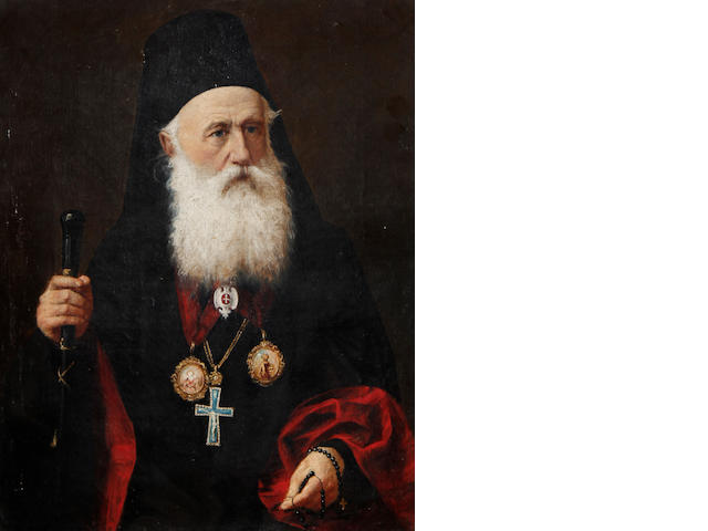 Continental School, 19th Century Portrait of a Greek patriarch