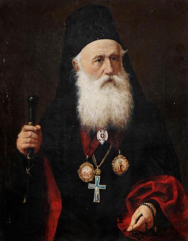 Continental School, 19th Century Portrait of a Greek patriarch