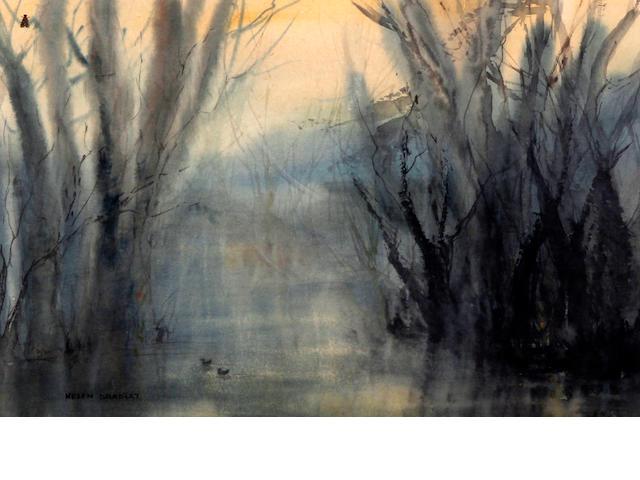 Helen Bradley (British, 1900-1979) A Misty Pond