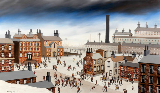 Brian Shields  (Braaq) (British, 1951-1997) 'Everton Road, Liverpool'