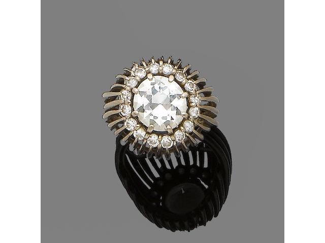 A diamond single-stone ring, by David Thomas
