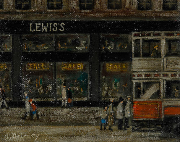 Arthur Delaney (British, 1927-1987) 'Lewis's, Manchester'
