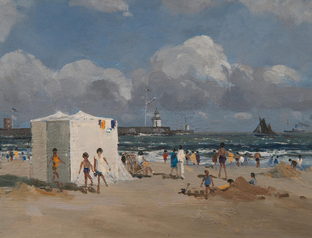 Campbell Archibald Mellon (British, 1876-1955) 'The beach tent'