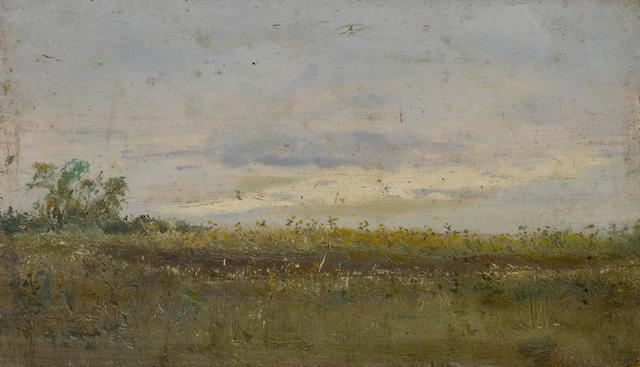 Isaak Ilych Levitan (Russian, 1860-1900) 'Perviy den' Chetverg ...'