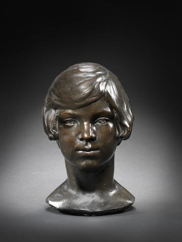 Barbara Hepworth (British, 1903-1975) Head of Miss Nora Robbins 31 cm. (12 1/4 in.) high