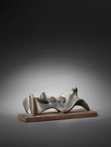 Henry Moore O.M., C.H. (British, 1898-1986) Stringed Reclining Figure 28 cm. (11 in.) long (not including base)
