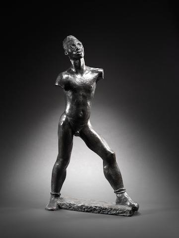 Glyn Warren Philpot (British, 1884-1937) Negro Walking 85 cm. (33 1/2 in.) high