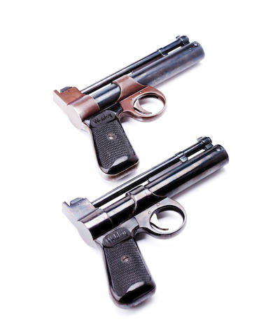 Two Webley Junior air pistols