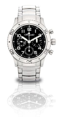 Breguet. A fine stainless steel automatic chronograph bracelet watch Type XX, Ref:3800ST/92/SW9, Case No.55850, Circa 2004
