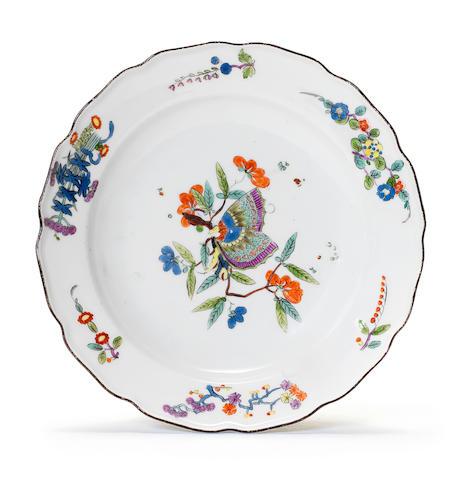 A Meissen plate, circa 1740