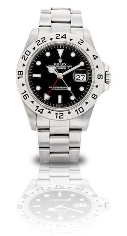 Rolex. A fine stainless steel automatic bracelet watch with date Explorer II, Ref:16570, Case No.A416756, Circa 1999