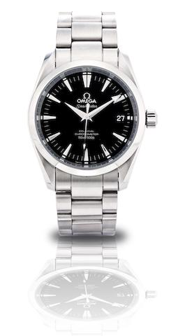 Omega. A stainless steel centre seconds calendar automatic bracelet watchAqua Terra Seamaster Co-Axial Chronometer, Movement No.84620607, Circa 2003
