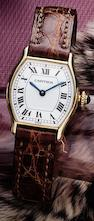 Cartier. A fine 18ct gold lady's manual wind wristwatchEllipse, Case No.780791630, Circa 1985