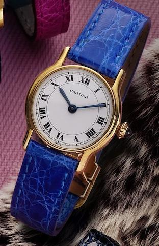 Cartier. A fine 18ct gold lady's manual wind wristwatchRonde, Case No.782480766, Circa 1980