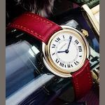 Cartier. A fine two colour 18ct gold lady's manual wind wristwatchCeinture, Case No.671130130, Circa 1985
