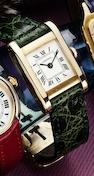 Cartier. A fine 18ct gold lady's manual wind wristwatchTank, Case No.780930034, Circa 1985